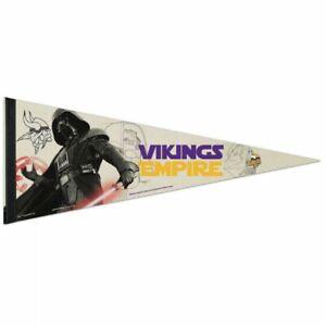 "MINNESOTA VIKINGS STAR WARS DARTH VADER PREMIUM QUALITY PENNANT 12""X30"" BANNER"