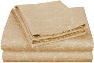 Cotton Blend 600 Thread Count, Deep Pocket, Soft, Wrinkle Resistant 4-Piece Full