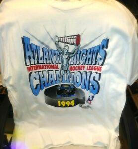 Atlanta Knights IHL Champions 1994 White XL T-shirt Vintage