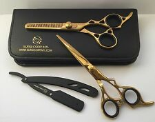 "6.5"" Professional Hairdressing Scissors Barber Salon Shears SET"" Of 3. NEW DESIG"
