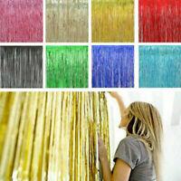 2-3M Foil Fringe Tinsel Shimmer Curtain Door Wedding Birthday Party DECORATION v