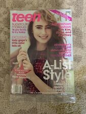 LILY COLLINS ABDUCTION October 2011 TEEN VOGUE MAGAZINE NEW * KARDASHIAN FASHION