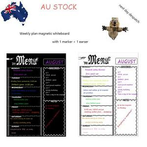 A3 Magnetic Weekly Calendar Work Out Dairy Meal Planner Rubber & Pen Combo