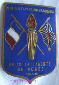 IN10310- INSIGNE  CENTRE EXPANSION FRANCAISE 1939 GRANDE BRETAGNE - BLEU