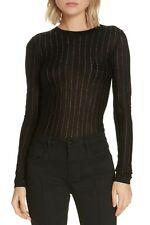 Frame Metallic Stripe Long Sleeve Top Women's Sz. XS (Noir Multi) 152900