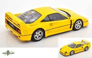 Ferrari F40 diecast 1987 gelb 1:18 KK diecast