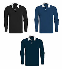 Men's Regular Button Down Rugby Casual Shirts & Tops