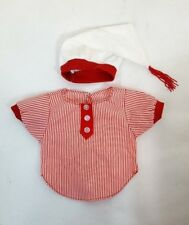 """Tender Heart Treasures Pa'S Night Nightshirt & Cap 2pc Outfit for 12"""" Bear 82009"""