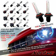 Two Xentec Xenon Light HID Kit 's Replacement Bulbs 3000k 5000k 6000k 8000k 10k