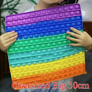 Big Size Jumbo Pop Its Fidget &Clip Finger Silicone Toy Bubble Squeeze it Toys