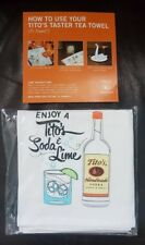 Tito's Vodka Bar Towel Taster Tea Soda & Lime Embroidered New