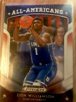 Panini Prizm Draft Picks Basketball All-Americans #100 Zion Williamson Hot RC!!