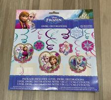 Disney Frozen Hanging Swirl Decorations (12pc) Birthday Party Supplies Anna Elsa