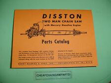 DISSTON KB7 KB-7 TWO MAN CHAINSAW PARTS CATALOG MANUAL NEW  ---- BOX 1314