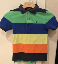 Polo Ralph Lauren Pony Striped Rugby Short Sleeve Shirt Youth Size 6