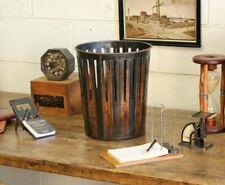 Antique Industrial Copper Flashed Erie Art Metal Waste Paper Basket Trash Can