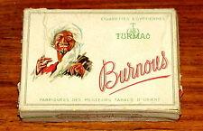 Greek Turmac Burnous Zigarettendose Cigarette Pack no Tin 1930s, SELTEN!