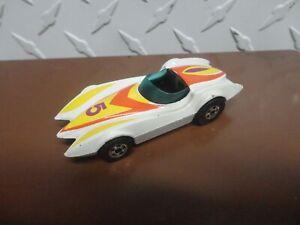 Loose Hot Wheels White Mach 5 Second Wind w/Blackwall Wheels