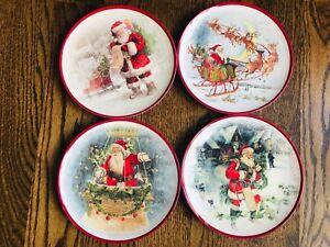 NWT Pottery Barn Kids Christmas   4 plates and 4 matching cups
