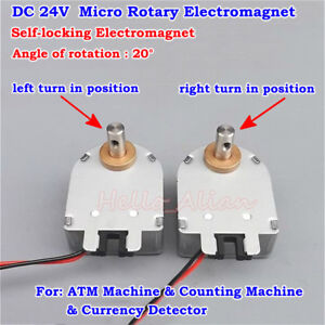 DC 24V Mini Rotating Type Self-locking Rotary Solenoid Electromagnet 20 Degree