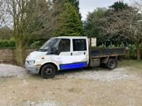 2002 FORD TRANSIT 350 DOUBLE CAB TIPPER MOT FAIL - GOOD RUNNER