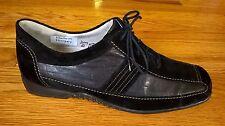 """NWOB Waldlaufer """"Weite G"""" Black Nubuck/Leather Lace Up Oxford size 6.5-M"""