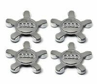 4x 135mm 8R0601165 Nabendeckel Felgendeckel Nabenkappen Grau