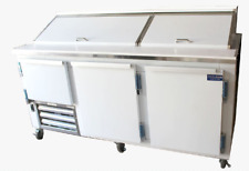 "Commercial 84"" Salad & Sandwich Refrigerator Prep Table Cooler"