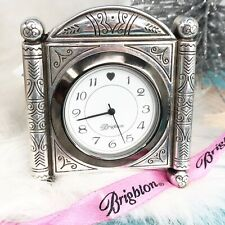 NWT Brighton Desert Passage Mini Desk Mantle Clock Silver New Battery Working