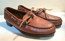 VTG Polo Ralph Lauren Leather Loafers / Boat Shoes Bench Made Maine USA
