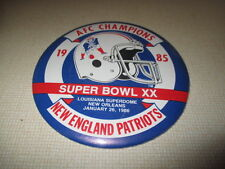 "1985 SUPER BOWL XX NEW ENGLAND PATRIOTS AFC Champions 6"" Pin / Button"