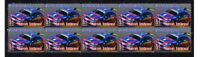 MARCOS AMBROSE MOTOR RACING STRIP OF 10 MINT VIGNETTE STAMPS 1