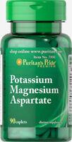 Puritan's Pride Potassium Magnesium Aspartate - 90 Caplets