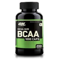 Optimum Nutrition BCAA 1000mg Amino Acids - 200 capsules BUILD MUSCLE - SALE