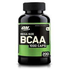 Optimum Nutrition BCAA 1000mg Amino Acids - 200 capsules BUILD MUSCLE