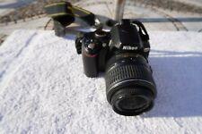 NIKON D60 10.2 MP DIGITAL SLR CAMERA-BLACK (KIT W/18-55mm and 55-200mm VR Lenses