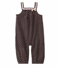 Gymboree Nice Kitty Glamour Soft Brown Tiny Pink Heart Corduroy Overalls 3-6 NWT