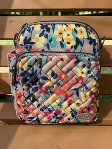 Lug Floral Multi Small Convertible Crossbody with RFID - Can Can2 w/Adj. Strap
