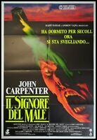"PRINCE OF DARKNESS 1987 Original Movie Poster 39x55"" 2Sh Italian JOHN CARPENTER"