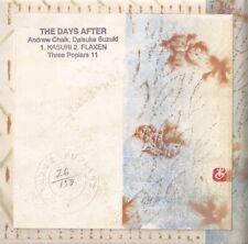ANDREW CHALK DAISUKE SUZUKI The Days After CD FIRST EDITION organum af ursin