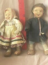 (2) Russian Stockinette - 'Tanika & Vanika'1930 Soviet Union Handmade -Both