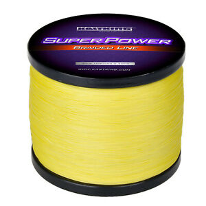 KastKing SuperPower 1000m Braided Fishing Line Abrasion Resistant Yellow Line
