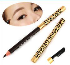 Waterproof Leopard Longlast Brown Eyeliner Eyebrow Pencil With Brush Make Up New