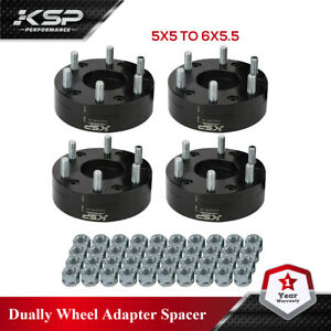 """4pcs 2"""" 5x5 to 6x5.5 HUBCENTRIC Wheel Adapters Chevy 5 Lug adapter 6 Lug Wheels"""