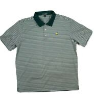 Augusta National mens striped green white polo shirt pima cotton XL