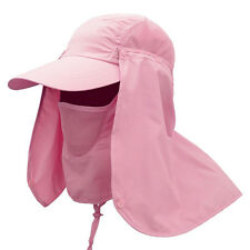 Unisex Outdoor Sport Fishing Hiking Hat UV Protection Face Neck Flap Sun Cap Purple