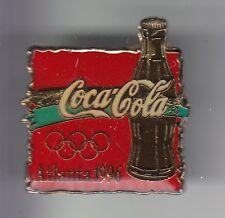 RARE PINS PIN'S .. COCA COLA COKE OLYMPIQUE OLYMPIC BOUTEILLE ATLANTA 96 USA ~17