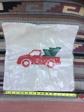 Christmas Farm Truck Pillow Cover Handmade Canvas