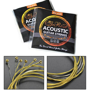 Set of 6 Acoustic Classic Steel Guitar Strings Light Gauge Replacement UK Stock