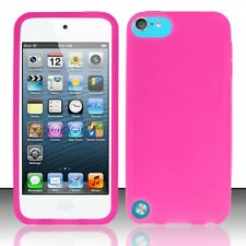 PINK SOFT SILICONE GEL RUBBER SKIN CASE COVER APPLE IPOD TOUCH 5 5TH GEN NEW
